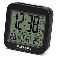 Годинники настільні Explore Scientific Compact RC Alarm Black (RDC1008CM3000)