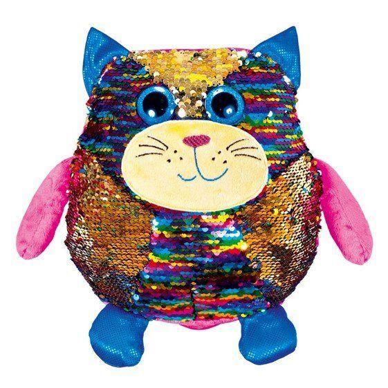 М'яка іграшка FANCY Кіт Періс блискучий з паєтками 23см (KOG01)