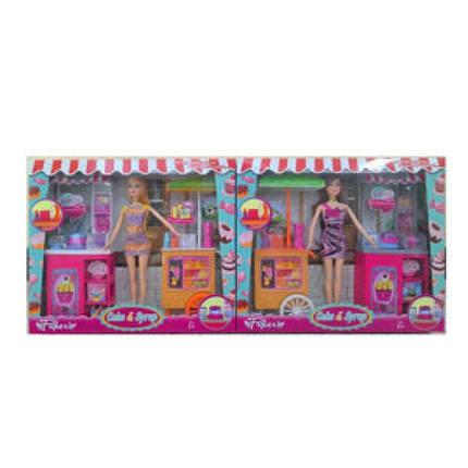 Лялька 29см, кафе на колесах, продукти, 2 види, JX200-21, фото 2