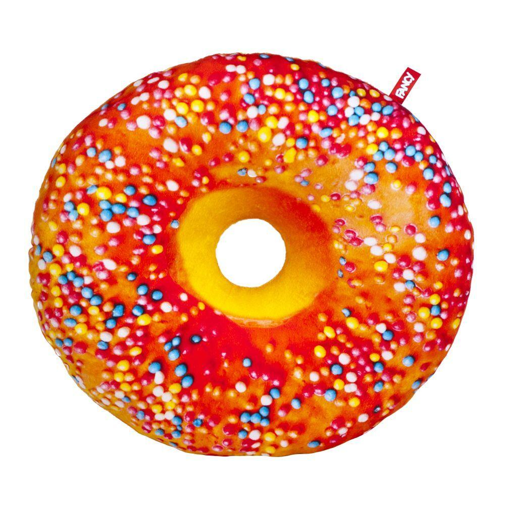 Подушка декоративна Fancy Пончик апельсинова глазур з посипкою (PP01-А)