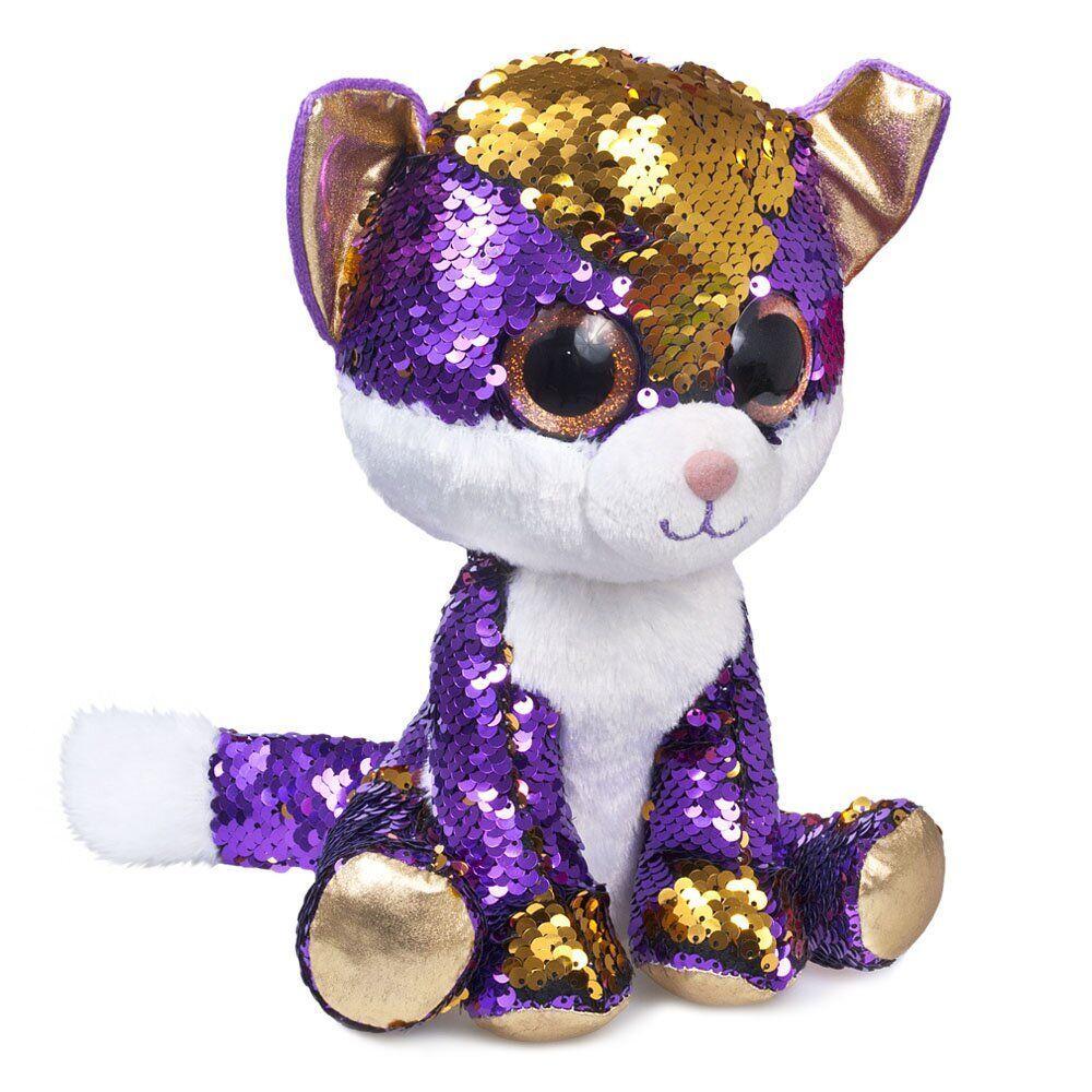 М'яка іграшка FANCY Кошеня Аметист блискучий з паєтками 23см (KGL0P)