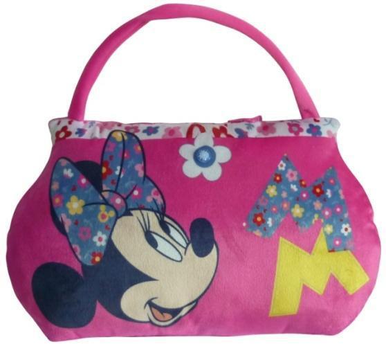 Подушка - сумка с Минни Маус, 2 в 1, розовая, 14877