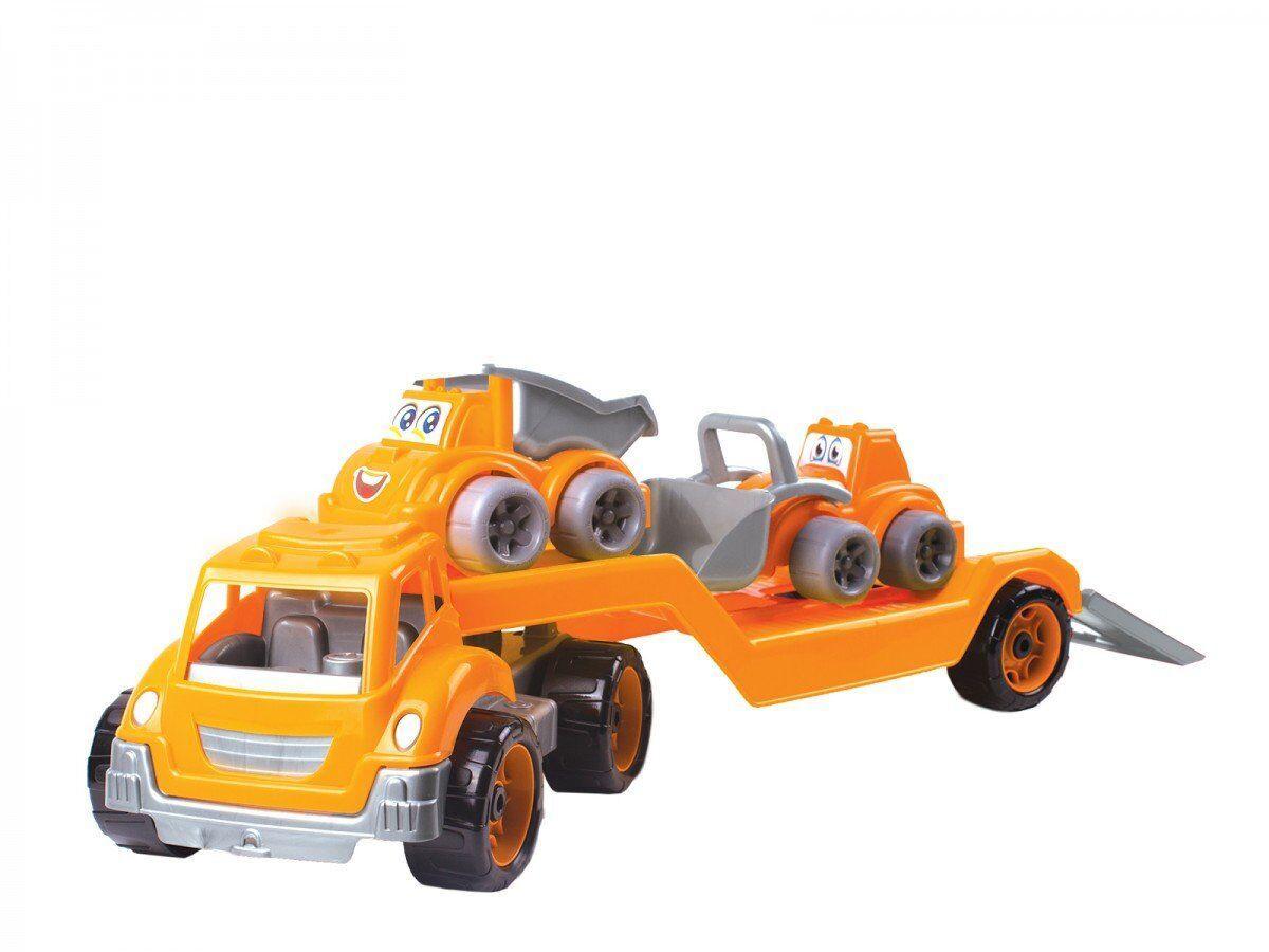 Игрушка Technok автовоз с набором стройтехника оранжево-серый (3930-1)
