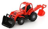 """Іграшка трактор-екскаватор """"Здоровань"""" POLESIE червоно-чорний (44785-1)"""
