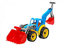 Іграшка Technok трактор з двома ковшами блакитний (3671-2)