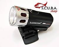 Фонарь для подводной охоты и дайвинга ILUMENOX S-SUN 3W (1 LED), c креплением на маску