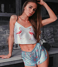 Пижама эксклюзив. Фламинго
