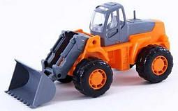 """Игрушка Polesie """"Умелец"""", трактор-погрузчик оранжево-серый (36940-3)"""