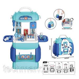 """Набор игровой Детский""""Доктор"""" 8393P с набором инструментов Раскладной столик и чемодан 2в1"""