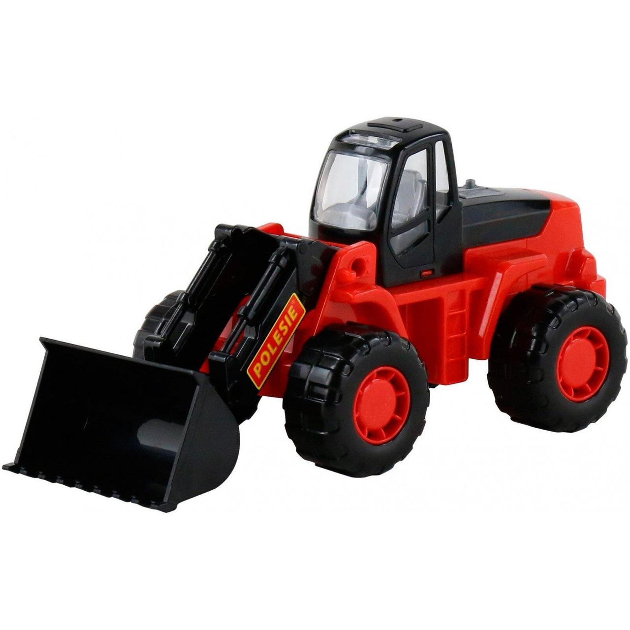 """Игрушка Polesie """"Умелец"""", трактор-погрузчик черно-красный (36940-4)"""