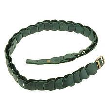Женский кожаный бохо-ремень зеленый, фото 3