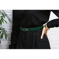 Женский кожаный бохо-ремень зеленый, фото 2