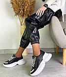 Женские кожаные кроссовки на платформе в разных цветах код 3424, фото 5
