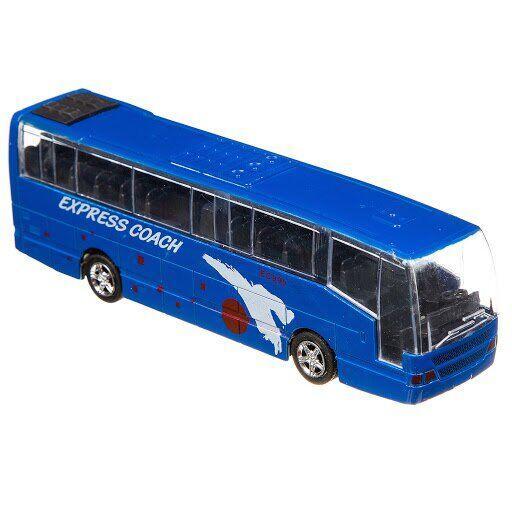 Автобус инерционный Big Motors, синий (XL80136L-3)