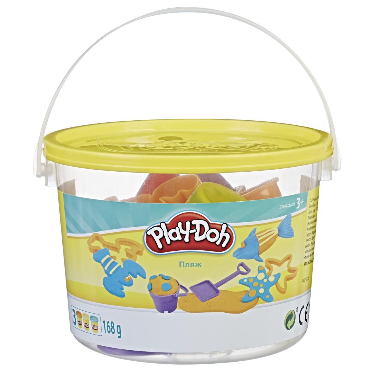Набір пластиліну Play-Doh міні відерце Морські мешканці (23414_23242)