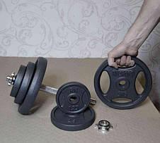 Гантель розбірна RN-Sport 21 кг металева, чавунна, фото 2
