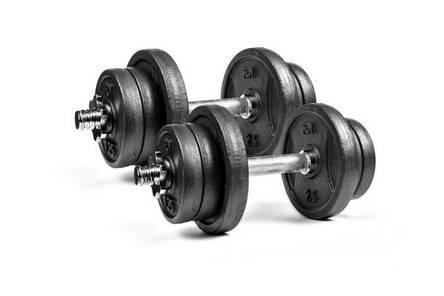 Чавунні складальні гантелі 2 по 11 кг RN-Sport, фото 2