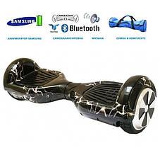 Гироборд гироскутер Smart Balance Wheel гіроборд гіроскутер колеса 6.5 Молния Белая