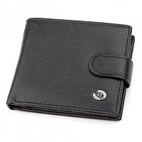 Чоловічий гаманець з натуральної шкіри ST Leather ST-13 Чорний