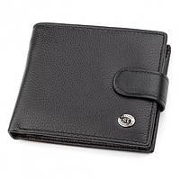 Мужской кошелек из натуральной кожи ST Leather ST-13 Черный