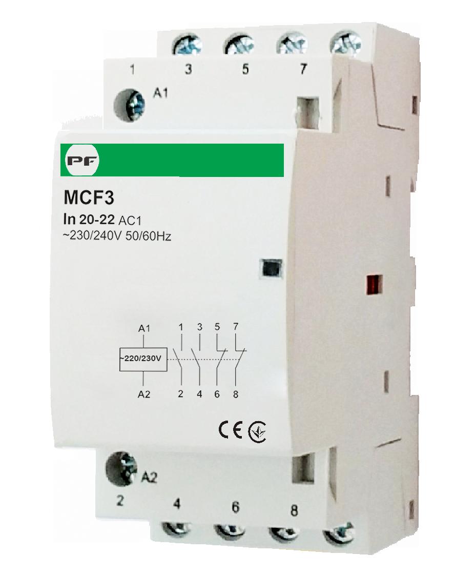 Модульный магнитный пускатель MCF3 АС230V  4Р  20А  4NC