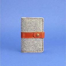 Фетровий кард-кейс 6.1 із коричневими шкіряними вставками, фото 3