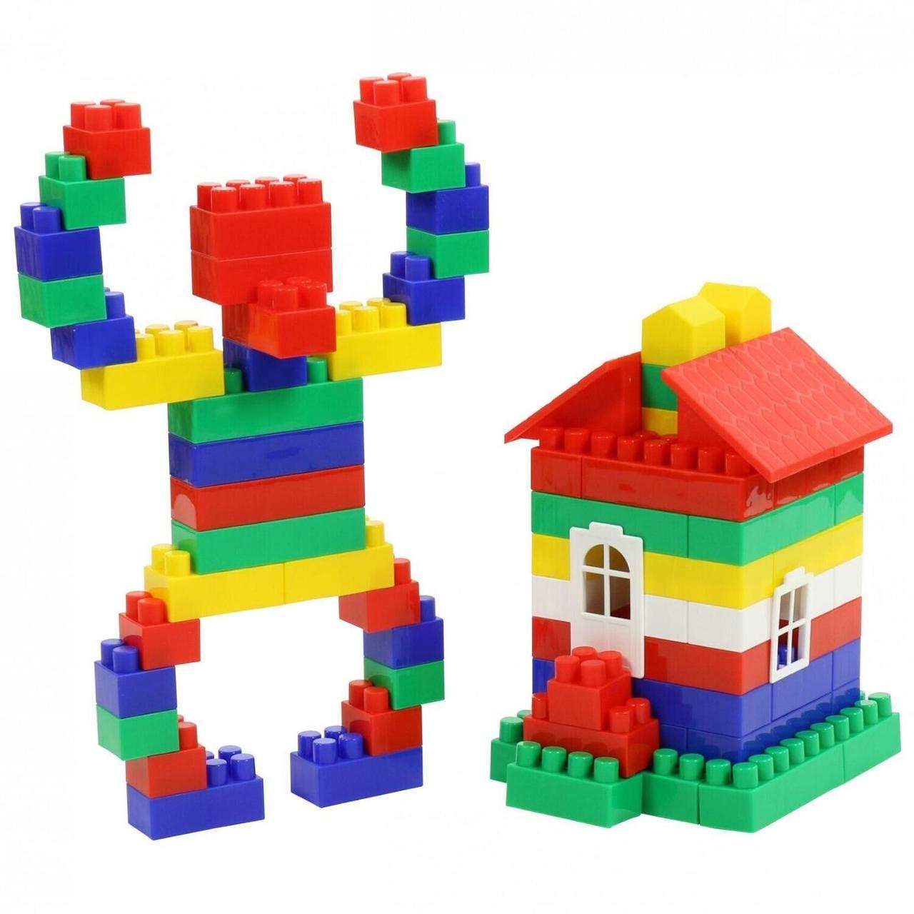 """Конструктор Polesie """"Будівельник гігант"""", 175 елем. в мішку (0569)"""