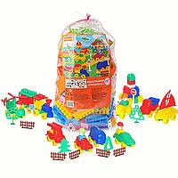 """Дитячий конструктор Polesie """"Будівельник"""", 287 елементів у пакеті (52551), фото 1"""