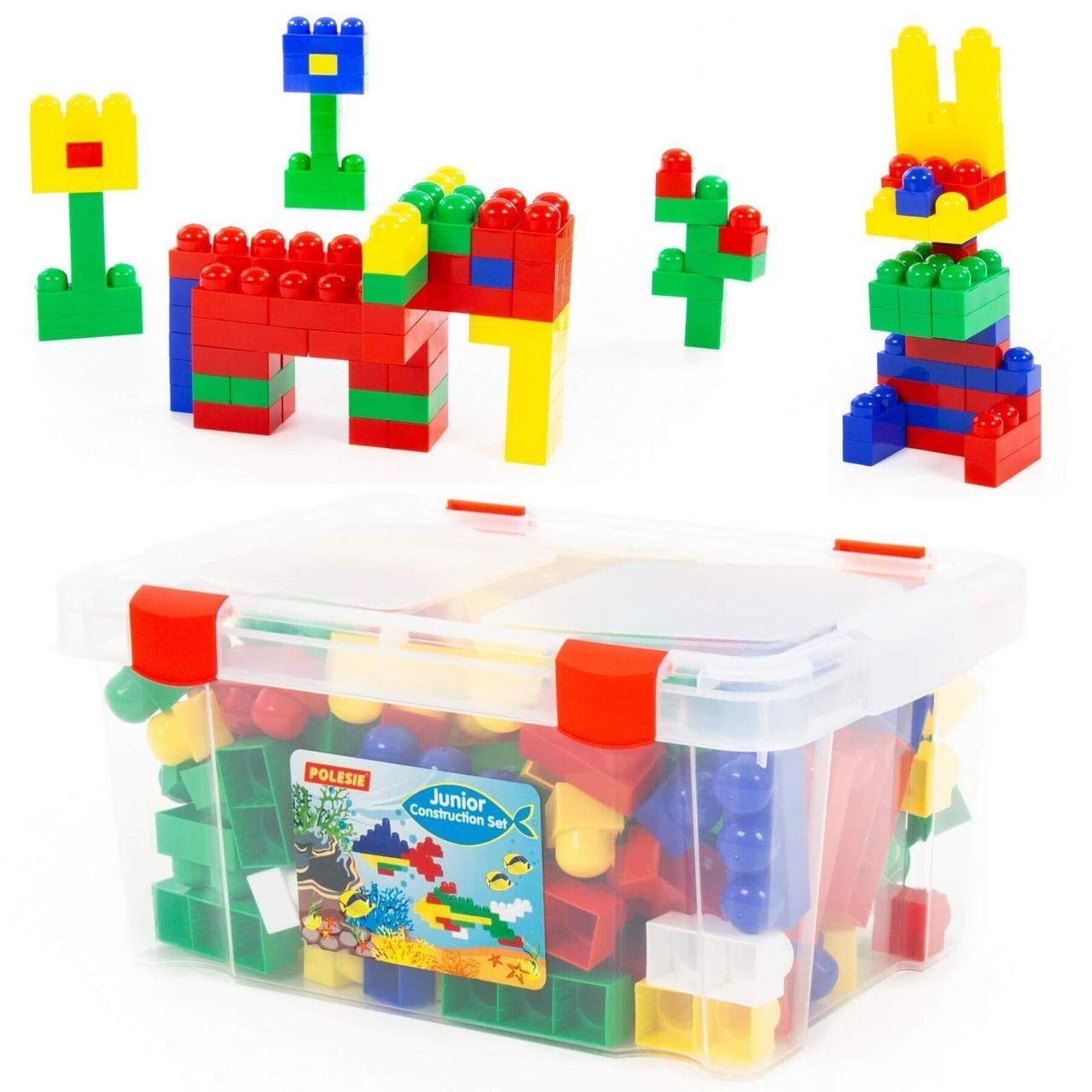 """Дитячий конструктор """"Полісся"""" в контейнері """"Юніор"""", 159 елементів (50588)"""