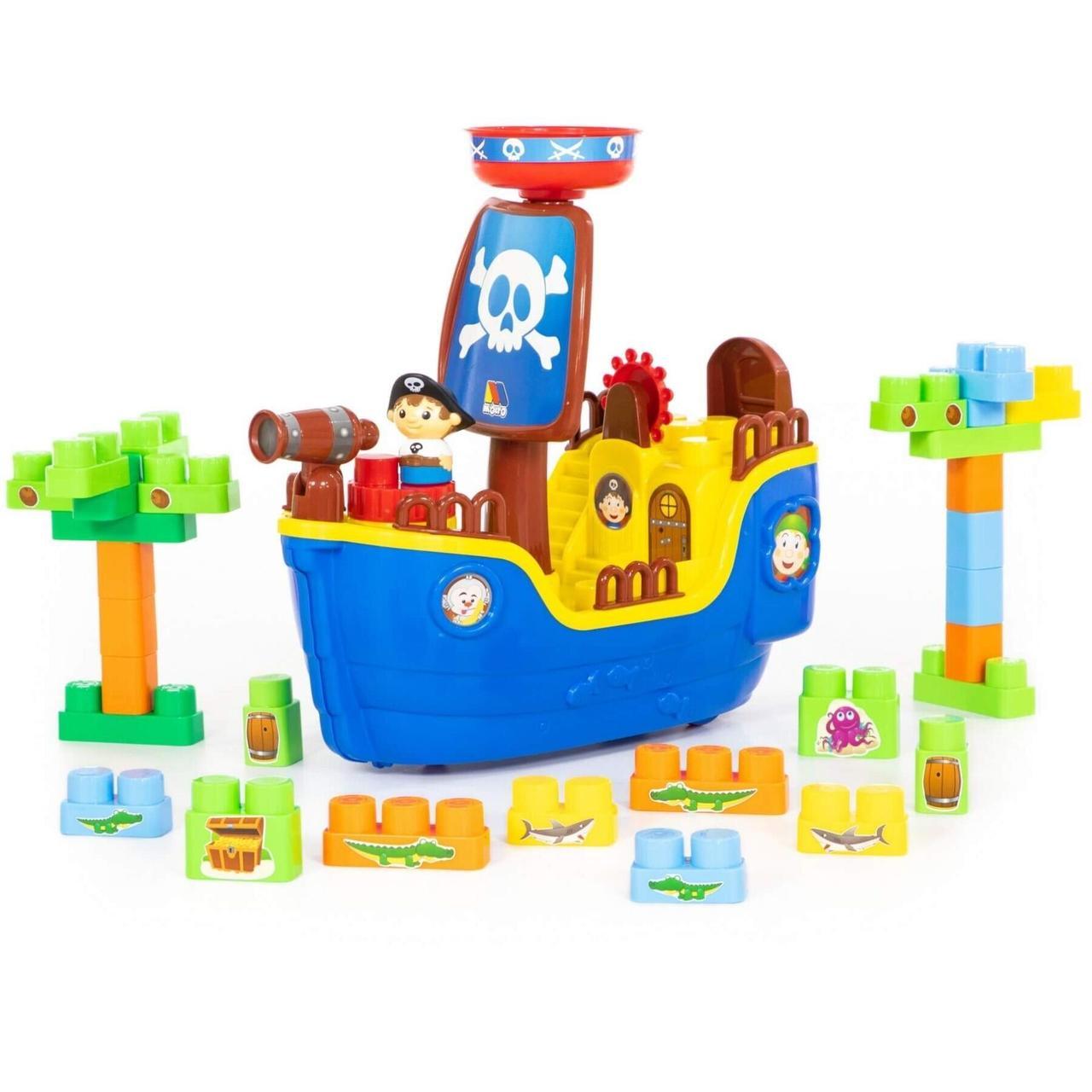 Піратський корабель з конструктором, 30 елементів (62246)