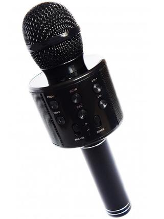 Караоке мікрофон з Bluetooth колонкою WSTER WS-858 Чорний, фото 2