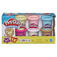 Набор Play-Doh из 6 баночек с конфетти (B3423)