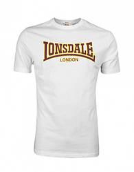 Летняя мужская футболка Lonsdale 111001 White