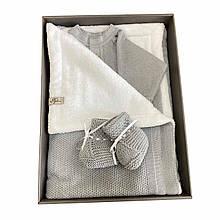 Набор для новорожденного серый