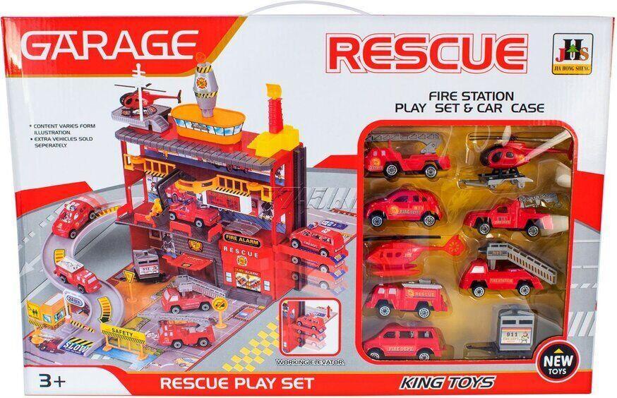"""Ігровий набір Паркінг """"Пожежна служба"""" - MAYA TOYS (566-4)"""