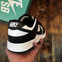 Мужские кроссовки Nike SB Dunk Low White Black ( Реплика ), фото 3