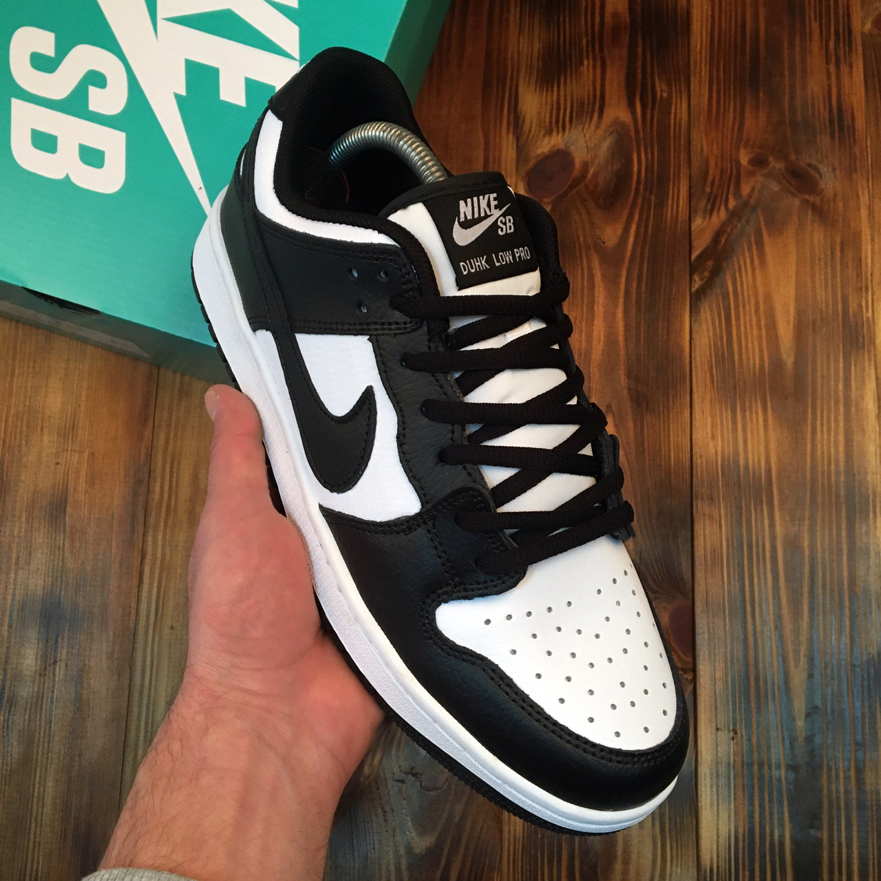 Мужские кроссовки Nike SB Dunk Low White Black ( Реплика )
