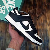 Мужские кроссовки Nike SB Dunk Low White Black ( Реплика ), фото 2