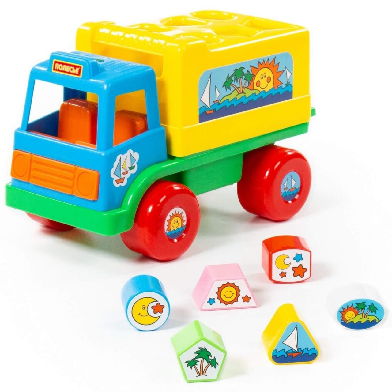 """Развивающая игрушка грузовик Polesie """"забава"""" сине-желтый (6370-1)"""