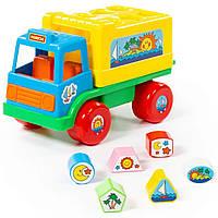 """Развивающая игрушка грузовик Polesie """"забава"""" сине-желтый (6370-1), фото 1"""