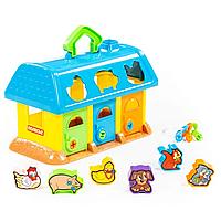 """Розвиваюча іграшка-сортер """"Логічний будиночок для звірів"""" синій, Polesie (9166-3), фото 1"""