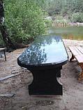Столы и лавочки из натурального камня, фото 4