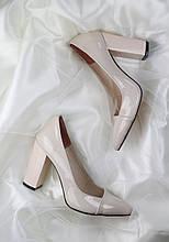 Жіночі весільні туфлі лакові від виробника модель ФС8