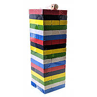 Игра дженга цветная 54 бруска (22х7,5х7,5 см)