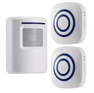 Звонок с датчиком движения. Инфракрасный беспроводной дверной звонок, дверной колокольчик (2 сирены)