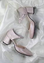 Жіночі весільні туфлі лакові від виробника модель ФС9