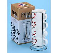 """Чашки """"Смайлики"""", набор средний 4 шт. по 175 ml"""