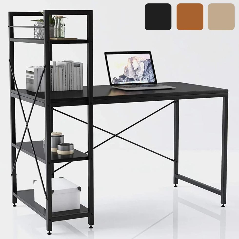Стол компьютерный Loran в стиле Loft для компьютера письменный с полками Лофт