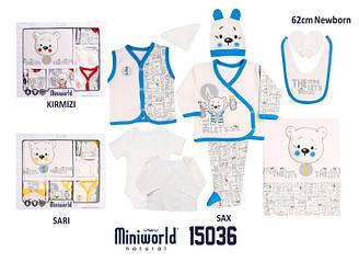 Подарочный набор для новорожденной мальчика, демисезонный, Мишка (10ед.) 0-3мес, Miniword