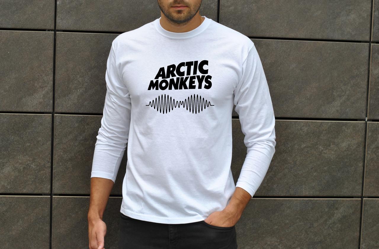 """Чоловіче біле джерсі з принтом """"Arctic Monkeys"""""""